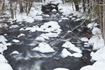 Fall River, Tributary of West Branch Farmington River in Winter, Tolland State Forest, Otis, MA