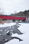 West Cornwall Covered Bridge (Built 1841) over Housatonic River, West Cornwall, CT