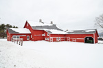 Large Red Barn Complex after Snowstorm, Salisbury, CT