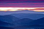 Sunrise over Green Mountain National Forest, View from Dover, VT to Mt Monadnock in Jaffrey, New Hampshire, Dover, VT