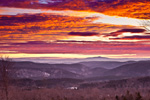 Spectacular Sunrise over Green Mountain National Forest, View from Dover, VT to Mt Monadnock in Jaffrey, New Hampshire, Dover, VT