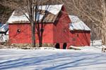 Red Barns in Winter, Dummerston, VT