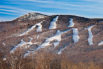 Ski Slopes on Mount Snow, View from Dover, VT