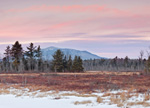 Sunset at Mount Monadnock and Scott Brook Area in Winter, View from Fitzwilliam, NH