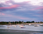 Late Evening Light over Boats in Webhannet River, Wells, ME