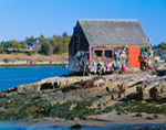 Lobster Shack in Mackerel Cove on Bailey Island, Harpswell, ME