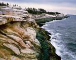 Cliffs along Shoreline at Pemaquid Point, Bristol, ME