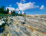 Pemaquid Point Light on Sunny Day, Pemaquid Point, Bristol, ME
