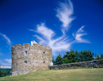 Dramatic Cirrus Clouds over Fort William Henry, Bristol, ME