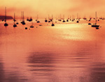 Boats in Southwest Harbor at Sunrise, Mt. Desert Island, Village of Manset, Southwest Harbor, ME