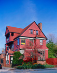 William P Goodwin House, Built 1886, Red Victorian-style Home, Stimson Avenue, Providence, RI