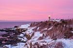 Sunrise at Beavertail Lighthouse, Beavertail State Park, Jamestown, RI