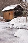 Swamp Meadow Covered Bridge over Hemlock Brook after Snowstorm, Foster, RI