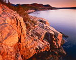Early Morning Light at Otter Cliffs from Ocean Drive, Acadia National Park, Mt Desert Island, ME