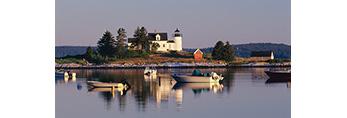 Pumpkin Island Lighthouse off Eggemoggin, Little Deer Isle, ME
