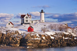 Nubble Light (Cape Neddick Light) after Snowstorm, Cape Neddick, York, ME