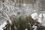 Reflections in Swift River after Winter Storm, Quabbin Park, Quabbin Reservation, Belchertown and Ware, MA