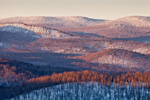 Early Morning Light over Mountains in Green Mountain National Forest, View from Wilmington, VT