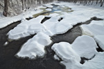 Snow-covered Rocks and Ashuelot River after Snowstorm, Winchester, NH