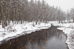 Tully River during Snowstorm, Royalston, MA