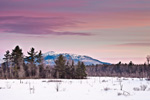 Mt Monadnock at Dawn and Wetlands at Scott Brook, View from Fitzwilliam, NH