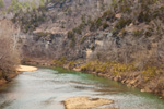 Buffalo National River and Bluffs near Hasty, Ozark Mountains, Newman County, AR