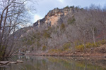 Bluffs on Buffalo National River at Kyles Landing, Ozark Mountains, Newton County, AR