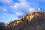 Early Morning Light on Bluffs Overlooking Buffalo National River at Kyles Landing, Ozark Mountains, Newton County, AR