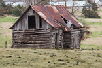 Old Log Barn near Ralph, Marion County, AR