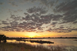 Sunset over Marsh at St Marks National Wildlife Refuge, Gulf Coast, Florida Panhandle, Gulf of Mexico, Wakulla County, FL