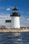 Replica of Brant Point Light at Lighthouse Point, Mystic Seaport: The Museum of America and the Sea, Mystic River, Mystic, Groton, CT