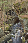 Rock Cliff and Boulders on Falls Brook along Metacomet-Monadnock Trail, New England National Scenic Trail, Royalston, MA