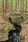 Rock Formations on Falls Brook along Metacomet-Monadnock Trail, New England National Scenic Trail, Royalston, MA