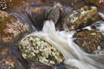 Closeup View of Rocks and Waters in Gulf Brook in Spring Freshet, Athol, MA