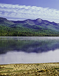 Lewey Lake with Reflections of Snowy Mountain in Distance, Adirondack State Park, Lake Pleasant, NY