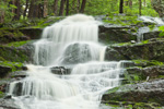 Spirit Falls (Lower Falls) in Spring Freshet on Tributary of Tully River, Trustees of Reservations, Royalston, MA