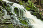 Spirit Falls (Middle Falls) in Spring Freshet on Tributary of Tully River, Trustees of Reservations, Royalston, MA