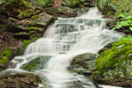 Spirit Falls (Upper Falls) in Spring Freshet on Tributary of Tully River, Trustees of Reservations, Royalston, MA