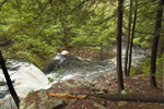 Doane's Falls (Lower Falls) on Lawrence Brook in Spring, Trustees of Reservations, Royalston, MA