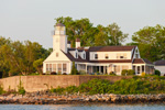 Early Moning Light on Poplar Point Light, Wickford Harbor, Wickford, North Kingstown, RI