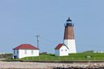 View of Point Judith Lighthouse from the Water, Block Island Sound, Rhode Island Sound, Narragansett Bay, Narragansett, RI