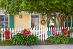 Picturesque Home with Flowers and White Picket Fence, Stonington Borough, Stonington, CT
