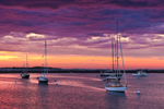 Boats in Gosport Harbor at Sunrise, Isles of Shoals, View from Star Island, Rye, NH out to Smuttynose Island, Kittery, ME