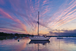 Sailboats in Rockland Harbor at Sunrise, Rockland, ME