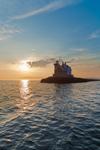 Rockland Breakwater Light at Sunset, Rockland Harbor, West Penobscot Bay, Rockland, ME