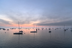 Dawn over Boats in Mooring Field in Rockland Harbor, Rockland, ME