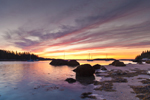 Sunset View from Shoreline of McGlathery Island out to Round Island, near Merchant Row, Stonington, ME