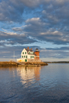 Rockland Breakwater Light in Late Evening, Rockland Harbor, West Penobscot Bay, Rockland, ME