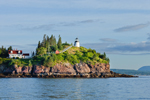 View of Owls Head Light from West Penobscot Bay, Owls Head State Park, Owls Head, ME