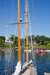 Spars and Rigging of Schooner Yacht